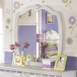Ashley Zarollina Bedroom Mirror in Silver