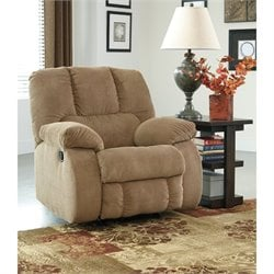 Ashley Roan Fabric Rocker Recliner in Mocha
