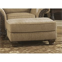 Ashley Cambridge Fabric Ottoman in Amber