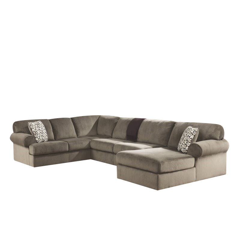 Ashley Furniture Jessa Place 3 Piece Fabric LHF Sectional in Dune