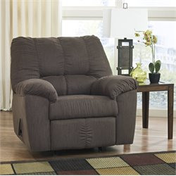 Ashley Zyler Fabric Rocker Recliner in Coffee