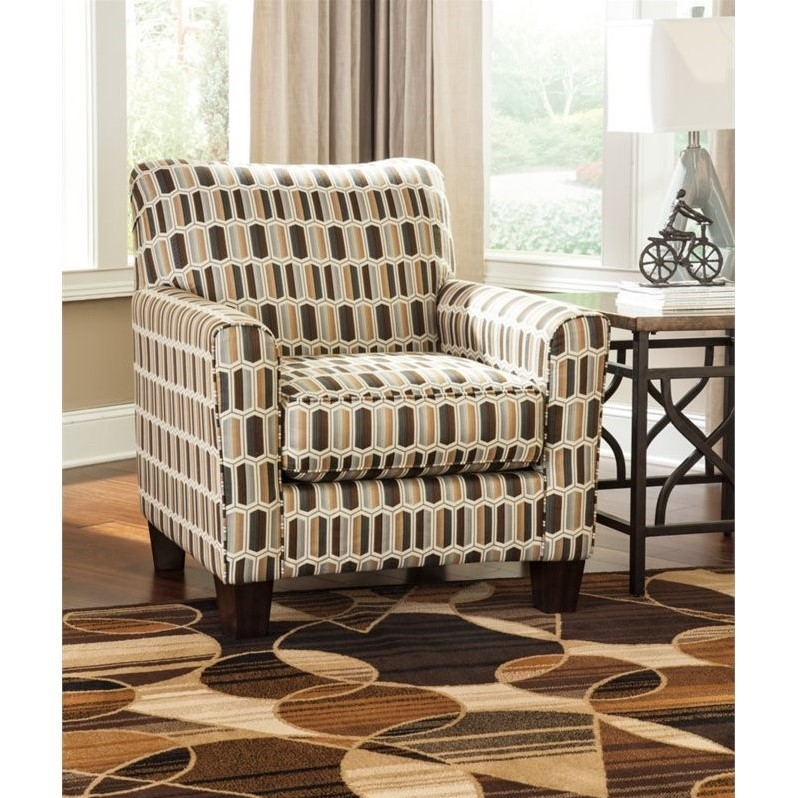 Merveilleux Ashley Janley Fabric Accent Chair In Nugat