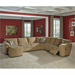Ashley Coats 5 Piece Fabric Reclining Sleeper Sectional in Dune