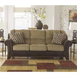 Ashley Vandive Fabric Sofa in Sand