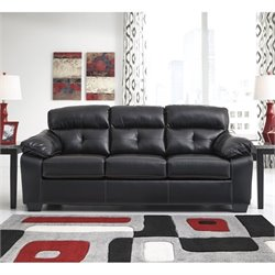 Ashley Bastrop Leather Sofa in Midnight