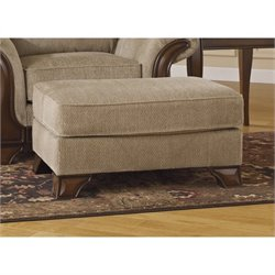 Ashley Lanett Fabric Ottoman in Barley