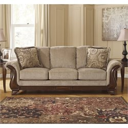 Ashley Lanett Fabric Sofa in Barley