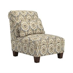 Ashley Emelen Chenille Armless Accent Chair in Straw