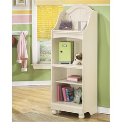 Ashley Cottage Retreat 3 Shelf Wood Bookcase in Cream
