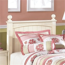 Ashley Cottage Retreat Wood Twin Panel Headboard in Cream