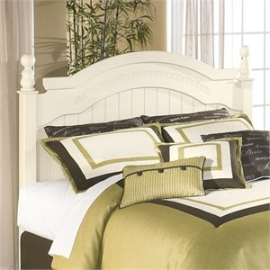 Ashley Cottage Retreat Wood Full Queen Arched Panel Headboard in Cream