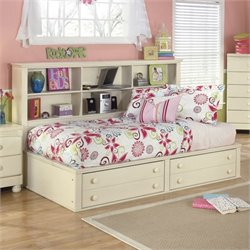 Ashley Cottage Retreat Twin Bookcase Mates Bed in Cream