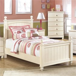 Ashley Cottage Retreat Wood Panel Bed in Cream - Queen