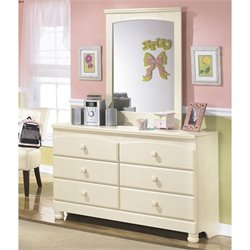 Ashley Cottage Retreat 2 Piece Wood Dresser Set in Cream