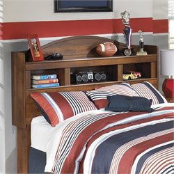Barchan Wood Bookcase Headboard in Brown