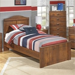 Ashley Barchan Wood Twin Panel Bed in Brown