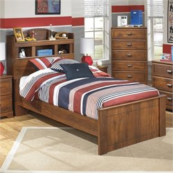 Ashley Barchan Wood Twin Bookcase Bed in Brown