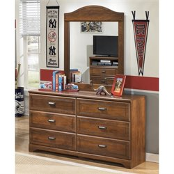 Ashley Barchan 2 Piece Wood Dresser Set in Brown