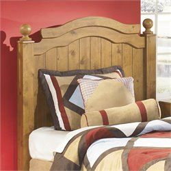 Ashley Stages Wood Twin Panel Headboard in Brown