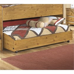 Ashley Stages Wood Twin Lower Loft Caster Bed in Brown