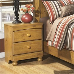 Ashley Stages 2 Drawer Wood Nightstand in Brown