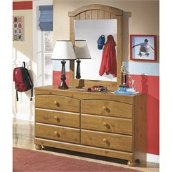 Ashley Stages 2 Piece Wood Dresser Set in Brown