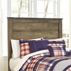 Ashley Trinell Wood Full Panel Headboard in Brown