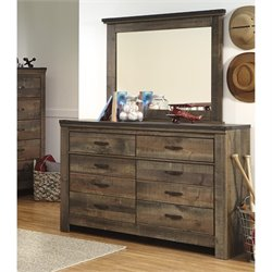 Ashley Trinell 2 Piece Wood Dresser Set in Brown
