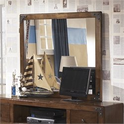 Ashley Delburne Bedroom Mirror in Brown
