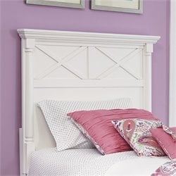 Ashley Kaslyn Wood Twin Panel Headboard in White