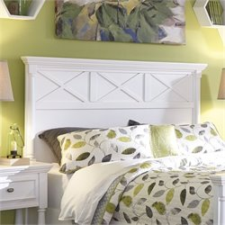 Ashley Kaslyn Wood Queen Panel Headboard in White