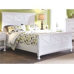 Ashley Kaslyn Wood Queen Panel Bed in White
