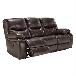 Pranas Faux Leather Reclining Sofa in Brindle