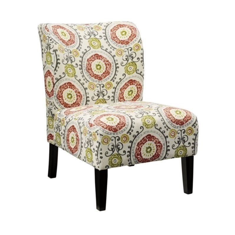 Fabric Accent Chairs: Ashley Honnally Fabric Accent Chair In Floral