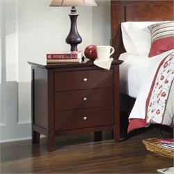 Ashley Colestead 3 Drawer Wood Nightstand in Brown