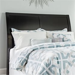 Ashley Braflin Wood Sleigh Headboard in Black - Queen