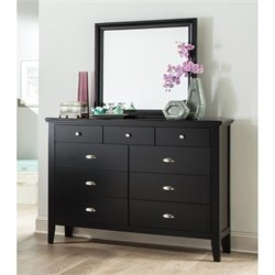 Ashley Braflin 2 Piece Wood Dresser Set in Black