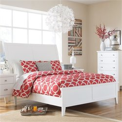 Ashley Langlor Wood Sleigh Bed in White