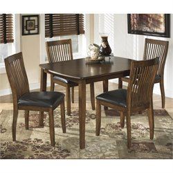Ashley Stuman 5 Piece Wood Dining Set in Brown