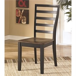 Ashley Alonzo Wood Dining Side Chair in Brown