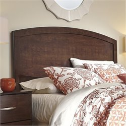Ashley Gennaguire Wood Full Queen Panel Headboard in Brown