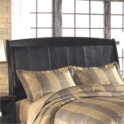 Harmony Upholstered Sleigh Headboard in Dark Brown