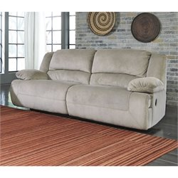Ashley Furniture Toletta Fabric Reclining Sofa in Granite