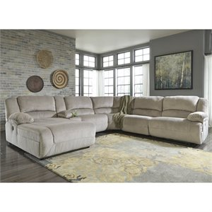 Toletta 6 Piece Chaise Console Sectional in Granite