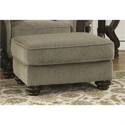 Ashley Martinsburg Chenille Ottoman in Meadow