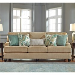 Ashley Lochian Chenille Sofa in Bisque