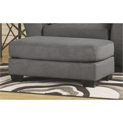 Ashley Lexi Fabric Ottoman in Cobblestone