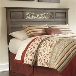 Ashley Allymore Wood Full Queen Panel Headboard in Brown