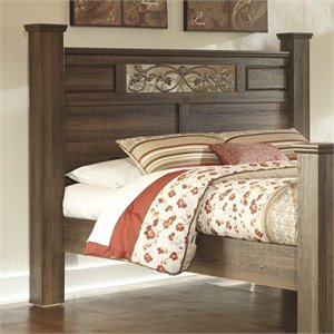 Allymore Wood Poster Panel Headboard in Brown