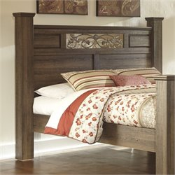 Ashley Allymore Wood Queen Poster Panel Headboard in Brown
